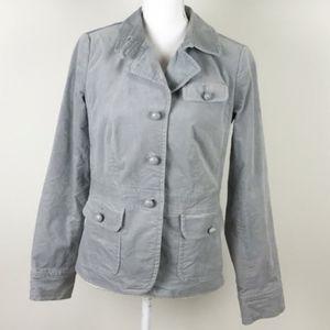 Talbots Gray Suede Peacoat Jacket